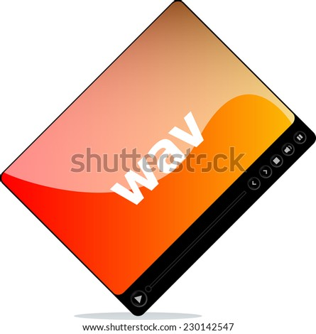 wav on media player interface - stock photo