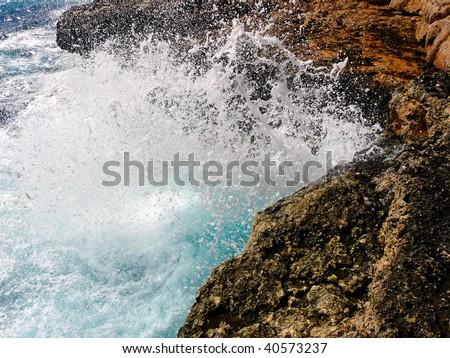 wave - stock photo