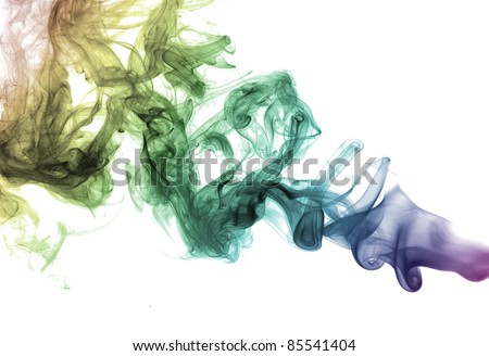 Wave and smoke background - stock photo