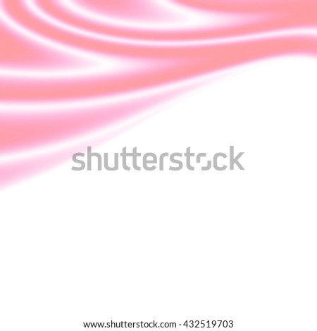 Wave delicate pink silk on a white background. With copy-space. - stock photo