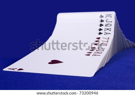Wave of cards - stock photo