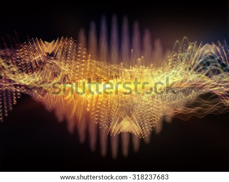 Wave of Sound series. Background design of sine waves and fractal elements on the subject of science, education and technology - stock photo