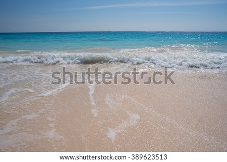 Waves at the beach - stock photo