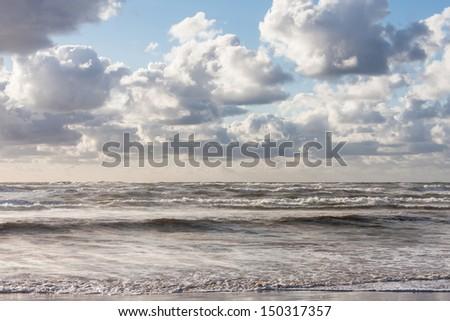 Waves at the North Sea - stock photo