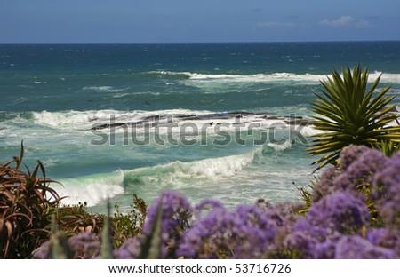 Waves crashing in Laguna Beach - stock photo