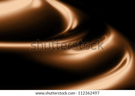 waves of chocolate cream closeup - stock photo