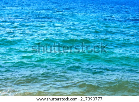 Waves of tropical sea - stock photo