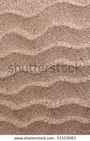 Waves on the sand background - stock photo