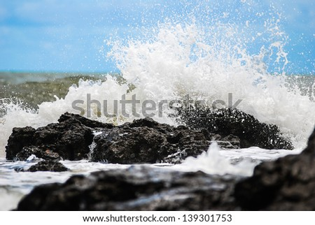 waves on the shore - stock photo