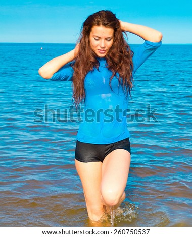 Waves Splashing Model  - stock photo