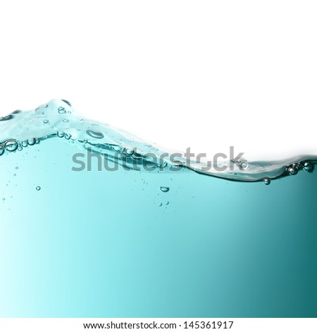 waves with air bubbles - stock photo
