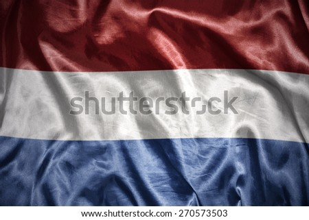 waving and shining  dutch flag - stock photo
