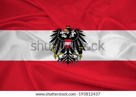 Waving Austria Flag - stock photo