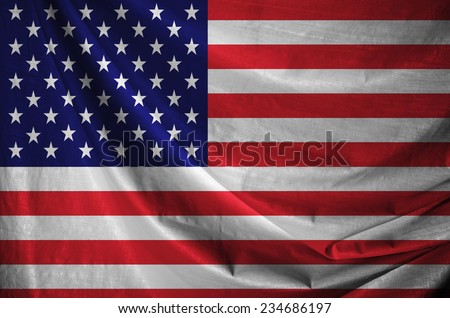 Waving colorful United states of america flag  - stock photo