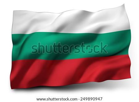 Waving flag of Bulgaria - stock photo