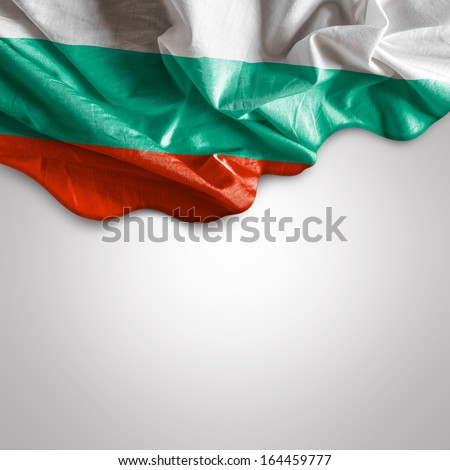 Waving flag of Bulgaria, Europe - stock photo
