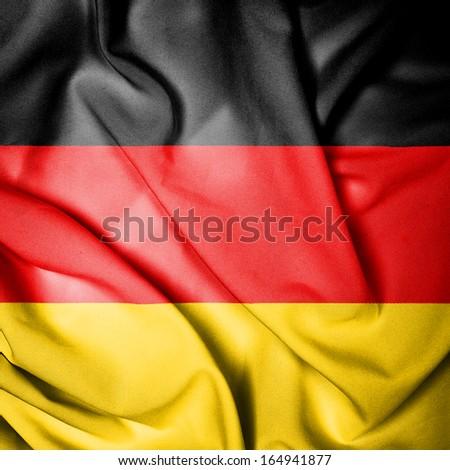 Waving Flag of Germany - stock photo