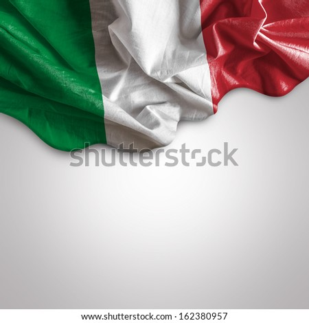 Waving flag of Italy, Europe - stock photo