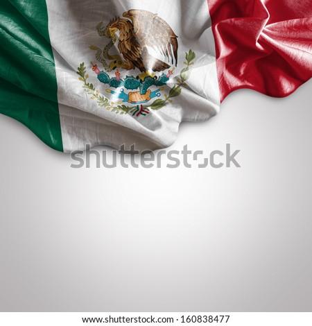 Waving flag of Mexico - stock photo