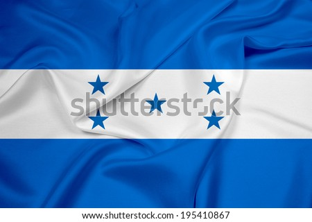 Waving Honduras Flag - stock photo
