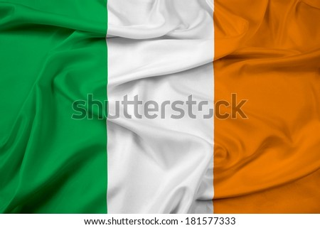 Waving Ireland Flag - stock photo