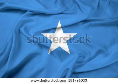 Waving Somalia Flag - stock photo