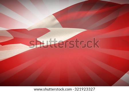 Waving Tonga flag against linear design - stock photo