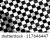 Waving Winning Race Flag with Black and White Checker Board Pattern - stock photo