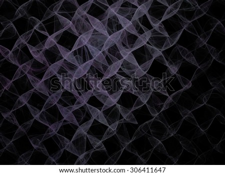 Wavy fractal grid illustration great as a background. - stock photo