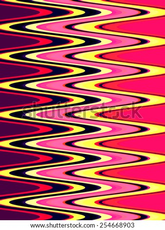Wavy patterned abstract with tropical colors for themes of repetition, togetherness, and continuity - stock photo