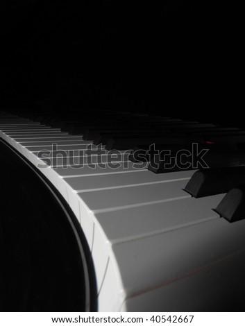 Wavy piano keys - stock photo