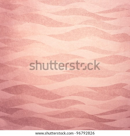 Wavy pink-gold background/texture - stock photo