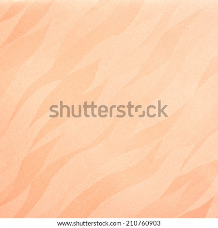 Wavy salmon orange background/texture - stock photo