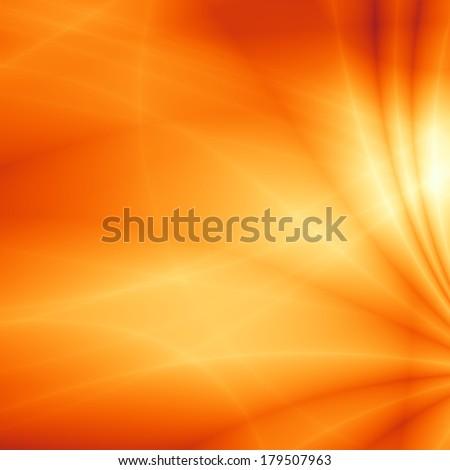 Wavy summer fun orange sunny abstract background - stock photo