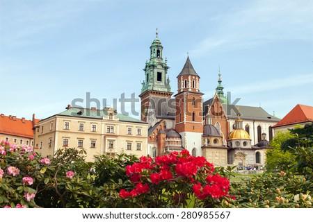 Wawel castle, Krakow, Poland - stock photo