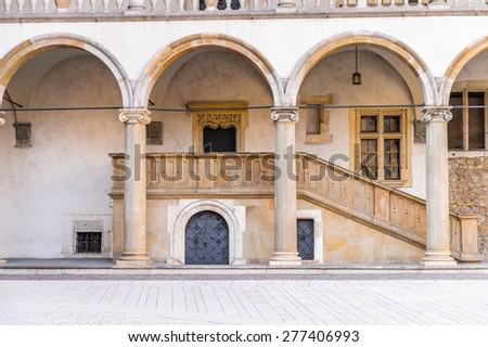 Wawel Cathedral in the Wawel Royal Castle in Krakow, Poland - stock photo