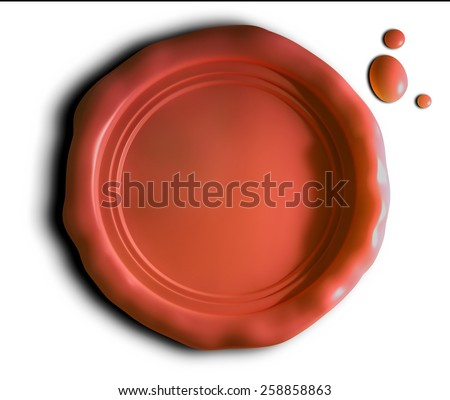 wax seal - stock photo