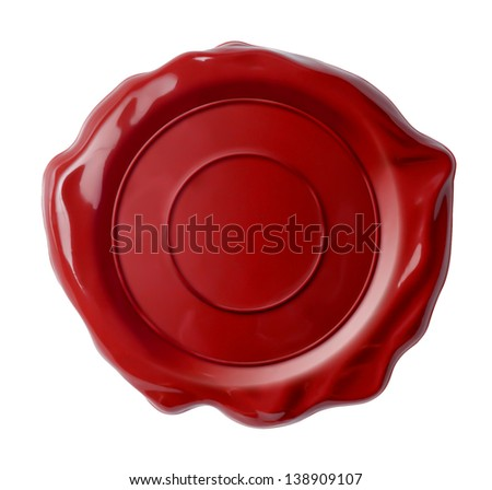 wax seal isolated - stock photo