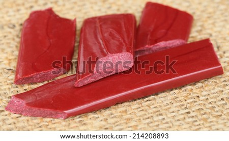 Wax seal on textured background - stock photo