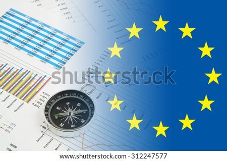 Way for european economy concept - stock photo