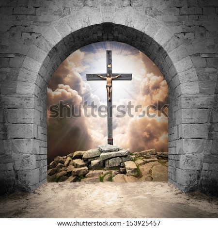Way to cemetery. End of life concept.  - stock photo