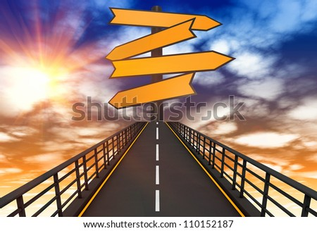 Way to go concept - stock photo