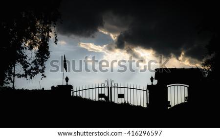 Way to heaven. Heaven gate. - stock photo