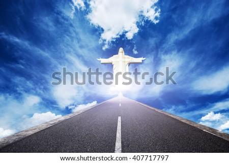 way to Jesus love  - stock photo