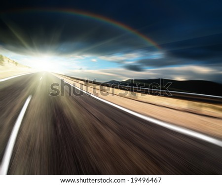Way to light - stock photo