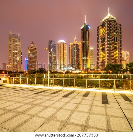 way to modern city in shanghai - stock photo