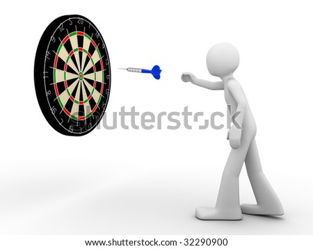 Way to the target! - stock photo