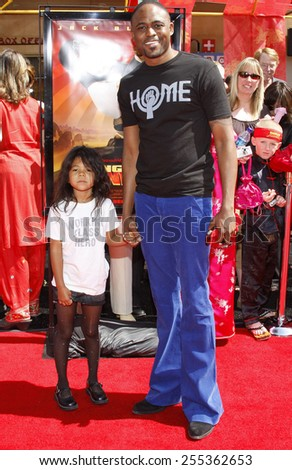 "Wayne Brady attends the Los Angeles Premiere of ""Kung Fu Panda"" held at the Grauman's Chinese Theater in Hollywood, California, United States on June 1, 2008.  - stock photo"