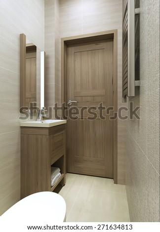 WC minimalism style. 3d render - stock photo
