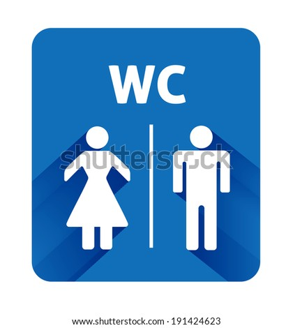 WC sign icon. Toilet symbol. Male and Female toilet. - stock photo